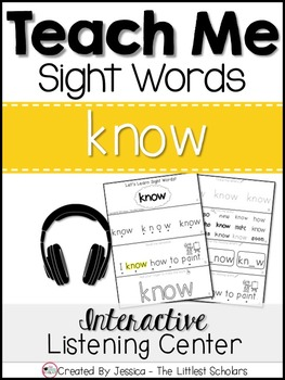 Teach Me Sight Words: KNOW [Interactive Center with Printa