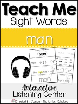 Teach Me Sight Words: MAN [Interactive Center with Printab