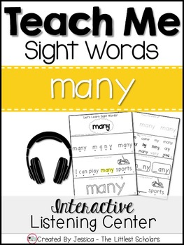 Teach Me Sight Words: MANY [Interactive Center with Printa