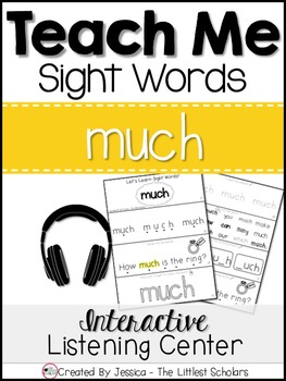 Teach Me Sight Words: MUCH [Interactive Center with Printa