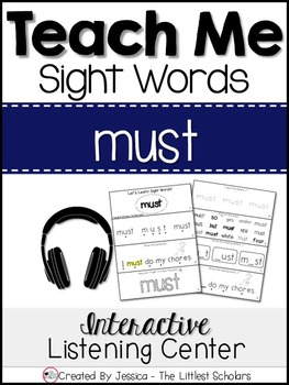 Teach Me Sight Words: MUST [Interactive Center with Printa