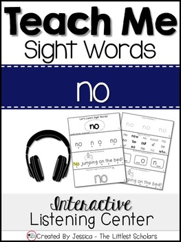 Teach Me Sight Words: NO [Interactive Center with Printabl