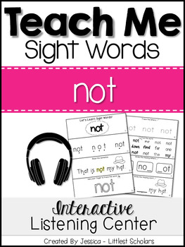 Teach Me Sight Words: NOT [Interactive Center with Printab