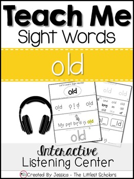 Teach Me Sight Words: OLD [Interactive Center with Printab