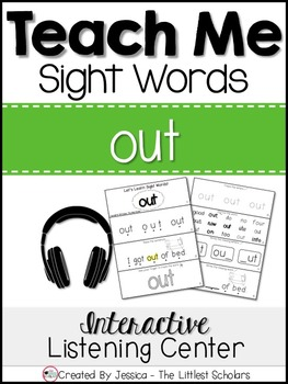 Teach Me Sight Words: OUT [Interactive Center with Printab