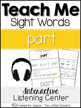 Teach Me Sight Words: PART [Interactive Center with Printa