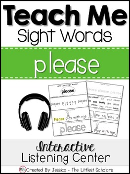 Teach Me Sight Words: PLEASE [Interactive Center with Prin