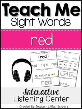 Teach Me Sight Words: RED [Interactive Center with Printab