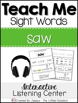 Teach Me Sight Words: SAW [Interactive Center with Printab