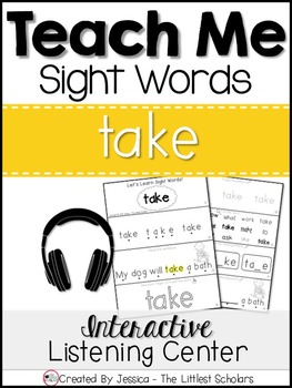 Teach Me Sight Words: TAKE [Interactive Center with Printa