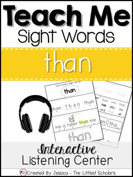 Teach Me Sight Words: THAN [Interactive Center with Printa