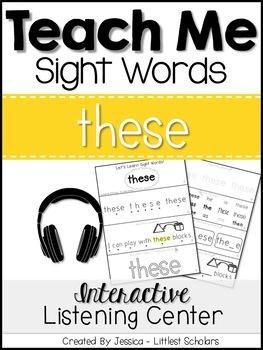 Teach Me Sight Words: THESE [Interactive Center with Print