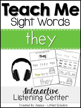 Teach Me Sight Words: THEY [Interactive Center with Printa