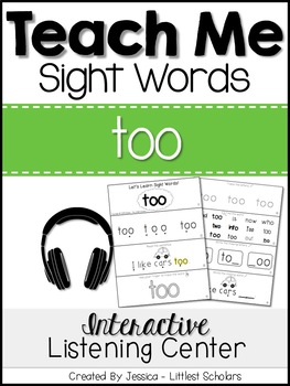 Teach Me Sight Words: TOO [Interactive Center with Printab