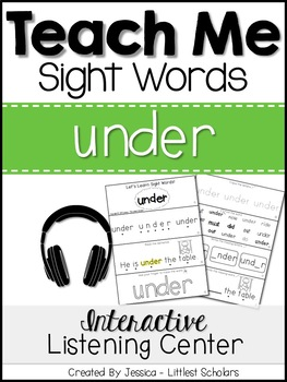 Teach Me Sight Words: UNDER [Interactive Center with Print