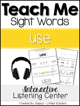 Teach Me Sight Words: USE [Interactive Center with Printab