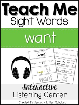 Teach Me Sight Words: WANT [Interactive Center with Printa