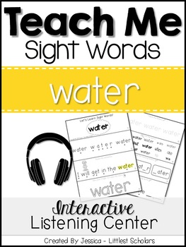 Teach Me Sight Words: WATER [Interactive Center with Print