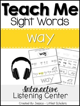 Teach Me Sight Words: WAY [Interactive Center with Printab