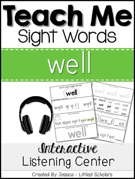 Teach Me Sight Words: WELL [Interactive Center with Printa