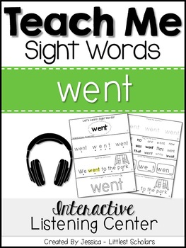 Teach Me Sight Words: WENT [Interactive Center with Printa