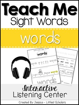 Teach Me Sight Words: WORDS [Interactive Center with Print