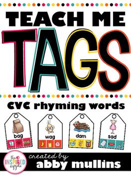 Teach Me Tags: CVC Rhyming Words