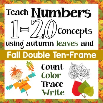 Count Fall Leaves & Teach Numbers 1 - 20 (& zero) Concepts