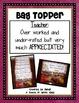 Teach Quote Bag Topper