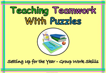 Teach Team work With Puzzles Back to School or End of Year