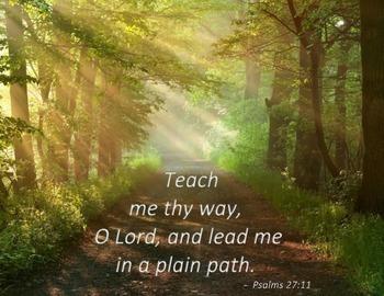 "{FREEBIE} ""Teach me thy Way, O Lord"" Poster"