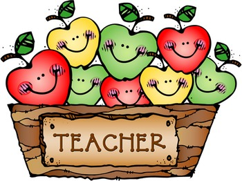 Teacher Apples Clip Art Image