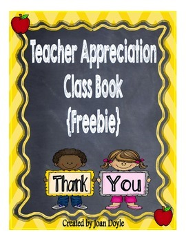 Teacher Appreciation Class Book {Freebie}