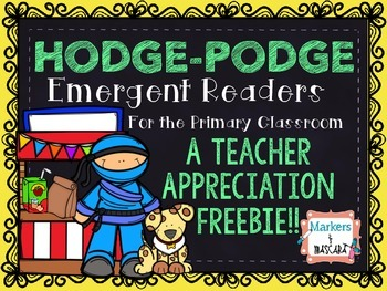 Teacher Appreciation Emergent Readers