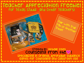 Teacher Appreciation Freebie:  Test Note for STAAR and oth