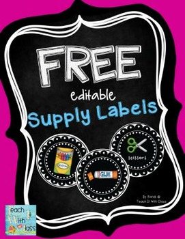 Free Editable Supply Labels