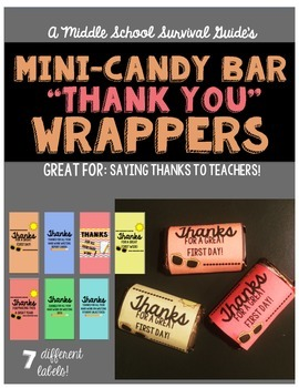 Teacher Appreciation: Mini-Candy Bar Wrappers
