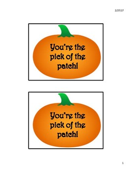 "Teacher Appreciation ""Pick of the Patch"" Pumpkins"