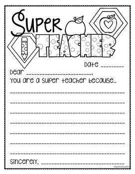 Teacher Appreciation Thank You Note Freebie
