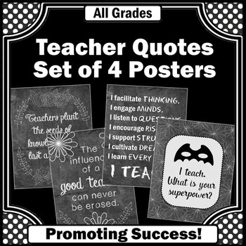 Teacher Appreciation Week Quote Posters ~ Gift Ideas for C