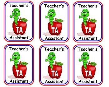 Teacher Assistant Badges