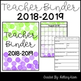 Teacher Binder (EDITABLE) *UPDATED FOR 2016-2017*