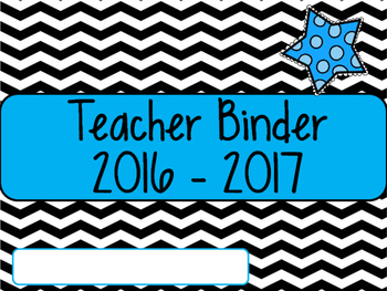 Teacher Binder 2016 - 2017