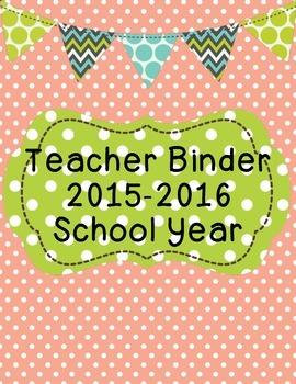Teacher Binder 2015-2016