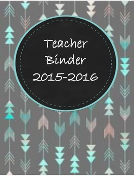 Teacher Binder 2015-2016 Aztec Arrow