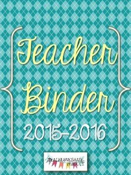 Teacher Binder 2015-2016 (Blue Argyle)
