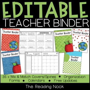 Teacher Binder - Editable
