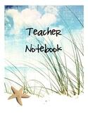Teacher Binder Beach Theme