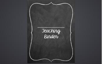 Teacher Binder Chalk theme