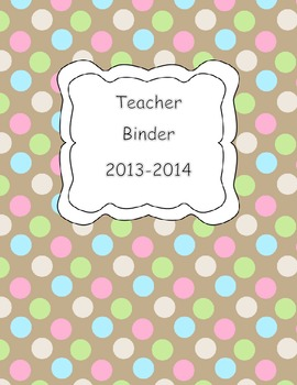 Teacher Binder Cover FREEBIE
